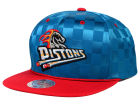 Detroit Pistons Mitchell and Ness NBA Upfield Snapback Cap Adjustable Hats