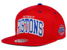 Detroit Pistons Mitchell and Ness NBA Reflective Arch Snapback Cap Adjustable Hats