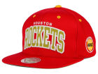 Houston Rockets Mitchell and Ness NBA Reflective Arch Snapback Cap Adjustable Hats
