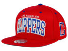 Los Angeles Clippers Mitchell and Ness NBA Reflective Arch Snapback Cap Adjustable Hats