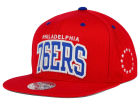 Philadelphia 76ers Mitchell and Ness NBA Reflective Arch Snapback Cap Adjustable Hats