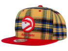 Atlanta Hawks Mitchell and Ness NBA Plaid It Snapback Cap Adjustable Hats