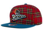 Detroit Pistons Mitchell and Ness NBA Plaid It Snapback Cap Adjustable Hats