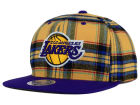 Los Angeles Lakers Mitchell and Ness NBA Plaid It Snapback Cap Adjustable Hats