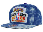 Los Angeles Lakers Mitchell and Ness NBA Back 2 Back Acid Wash Snapback Cap Adjustable Hats
