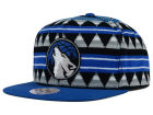 Minnesota Timberwolves Mitchell and Ness NBA Mixtec Snapback Cap Adjustable Hats