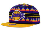 Los Angeles Lakers Mitchell and Ness NBA Mixtec Snapback Cap Adjustable Hats