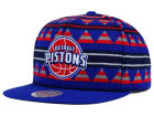 Detroit Pistons Mitchell and Ness NBA Mixtec Snapback Cap Adjustable Hats