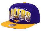 Los Angeles Lakers Mitchell and Ness NBA Double Bonus Snapback Cap Adjustable Hats