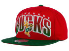 Milwaukee Bucks Mitchell and Ness NBA Double Bonus Snapback Cap Adjustable Hats
