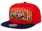 New Orleans Pelicans Mitchell and Ness NBA Double Bonus Snapback Cap Adjustable Hats