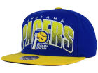 Indiana Pacers Mitchell and Ness NBA Double Bonus Snapback Cap Adjustable Hats
