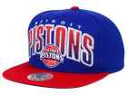 Detroit Pistons Mitchell and Ness NBA Double Bonus Snapback Cap Adjustable Hats