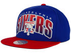 Philadelphia 76ers Mitchell and Ness NBA Double Bonus Snapback Cap Adjustable Hats