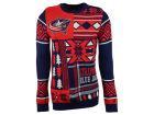 Columbus Blue Jackets Forever Collectibles NHL Men's Patches Ugly Sweater Sweatshirts