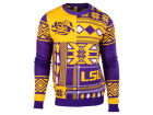 LSU Tigers Forever Collectibles NCAA Men's Patches Ugly Sweater Fleece