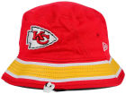 Kansas City Chiefs New Era NFL Team Stripe Bucket Hats