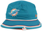 Miami Dolphins New Era NFL Team Stripe Bucket Hats