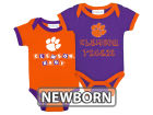 Clemson Tigers NCAA Newborn 2 Pack Contrast Creeper Infant Apparel