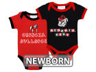 Georgia Bulldogs NCAA Newborn 2 Pack Contrast Creeper Infant Apparel