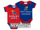 Kansas Jayhawks NCAA Newborn 2 Pack Contrast Creeper Infant Apparel