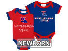 Louisiana Tech Bulldogs NCAA Newborn 2 Pack Contrast Creeper Infant Apparel