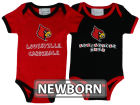 Louisville Cardinals NCAA Newborn 2 Pack Contrast Creeper Infant Apparel