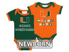 Miami Hurricanes NCAA Newborn 2 Pack Contrast Creeper Infant Apparel