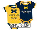 Michigan Wolverines NCAA Newborn 2 Pack Contrast Creeper Infant Apparel