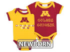 Minnesota Golden Gophers NCAA Newborn 2 Pack Contrast Creeper Infant Apparel