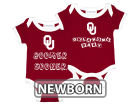 Oklahoma Sooners NCAA Newborn 2 Pack Contrast Creeper Infant Apparel