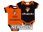 Oklahoma State Cowboys NCAA Newborn 2 Pack Contrast Creeper Infant Apparel
