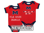 Mississippi Rebels NCAA Newborn 2 Pack Contrast Creeper Infant Apparel