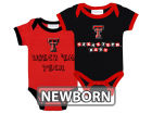 Texas Tech Red Raiders NCAA Newborn 2 Pack Contrast Creeper Infant Apparel