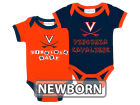 Virginia Cavaliers NCAA Newborn 2 Pack Contrast Creeper Infant Apparel