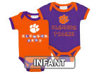 Clemson Tigers NCAA Infant 2 Pack Contrast Creeper Infant Apparel