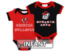 Georgia Bulldogs NCAA Infant 2 Pack Contrast Creeper Infant Apparel