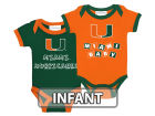 Miami Hurricanes NCAA Infant 2 Pack Contrast Creeper Infant Apparel