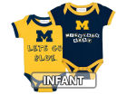 Michigan Wolverines NCAA Infant 2 Pack Contrast Creeper Infant Apparel