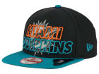 Miami Dolphins New Era NFL Graph Outline 9FIFTY Snapback Cap Adjustable Hats