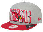 Arizona Cardinals New Era NFL Heather Wordmark 9FIFTY Snapback Cap Adjustable Hats
