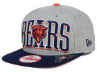 Chicago Bears New Era NFL Heather Wordmark 9FIFTY Snapback Cap Adjustable Hats