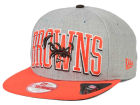 Cleveland Browns New Era NFL Heather Wordmark 9FIFTY Snapback Cap Adjustable Hats