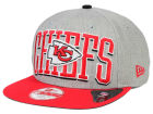 Kansas City Chiefs New Era NFL Heather Wordmark 9FIFTY Snapback Cap Adjustable Hats