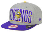 Minnesota Vikings New Era NFL Heather Wordmark 9FIFTY Snapback Cap Adjustable Hats