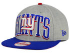New York Giants New Era NFL Heather Wordmark 9FIFTY Snapback Cap Adjustable Hats