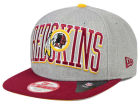 Washington Redskins New Era NFL Heather Wordmark 9FIFTY Snapback Cap Adjustable Hats