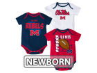 Mississippi Rebels Outerstuff NCAA Newborn 3 Point Spread Set Outfits