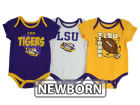 LSU Tigers Outerstuff NCAA Newborn 3 Point Spread Set Outfits