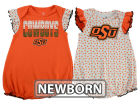Oklahoma State Cowboys Outerstuff NCAA Newborn Girls Polka Fan Set Outfits